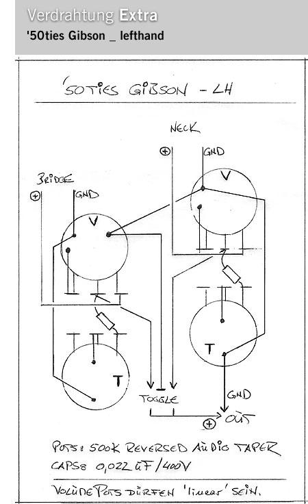 lefthand gear / Les Paul 59 wiring / schematics / Linkshänder