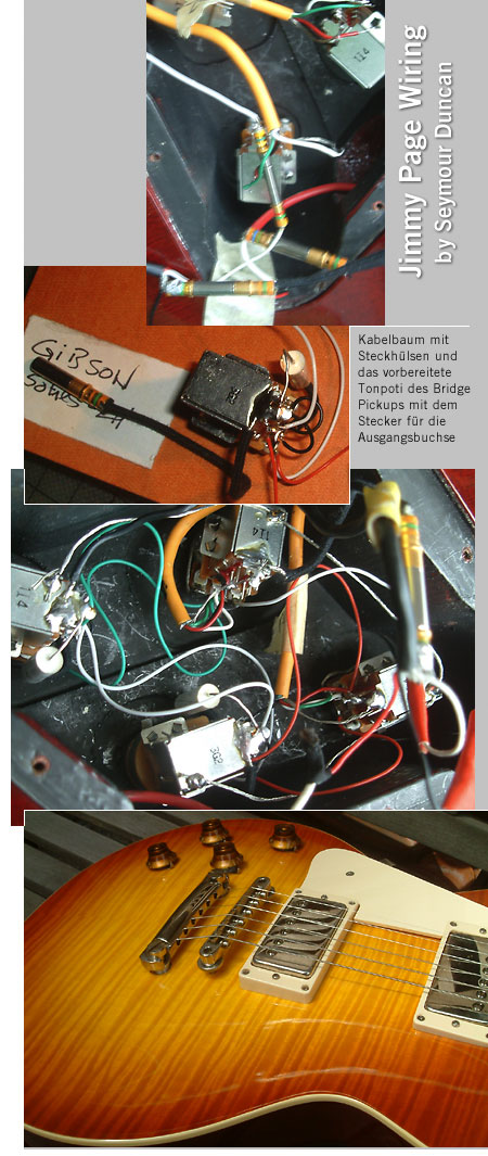 lefthand gear.de / Jimmy Page Wiring Harness Gibson Les Paul left ...